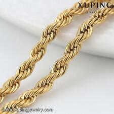 24k Yellow Gold Filled Curb Twisted  Fashion Women's Necklace - 50cm