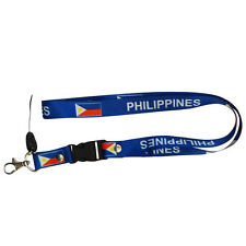 PHILIPPINES BLUE COUNTRY FLAG LANYARD KEYCHAIN PASSHOLDER ..NEW