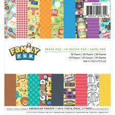 Imaginisce Family Fun 6x6 Paper Pad! 36 Sheets!