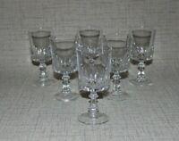CB2-4a) 6x Glas Wein Weingläser Gläser wohl Bleikristall H:13,7cm Cocktail Bar