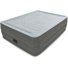 Full Size Air Bed Mattress Electric Pump Raised Camping Inflatable Intex Gray