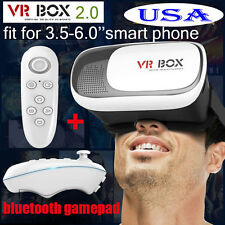 VR BOX 2nd Generation Virtual Reality 3D Glasses Bluetooth Controller for phones