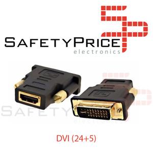 ADAPTADOR CONVERSOR HDMI HEMBRA A DVI MACHO (24 + 5)