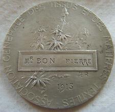 MED5998 - MEDAILLE ASSOCIATION GENERALE DES TISSUS 1913 par RIVET en Argent