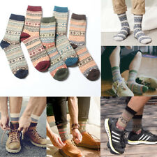 Wholesale 5 Pairs/Pack Men Thick Thermal Wool Cashmere Casual Winter Warm Socks