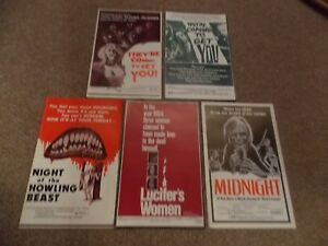 LOT OF FIVE DIFFERENT HORROR PRESSBOOKS FROM THE 1970'S FOR ONE PRICE!