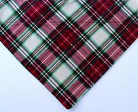 Winter plaid dog bandana - red and green dog scarf - Christmas pet