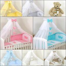 Ciel de lit Baldaquin Moustiquaire  + Support Flèche de lit pour Lit de Bébé