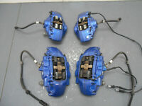 2015 14 15 16 17 18 BMW M3 F80 Blue Brembo Brake Caliper Set #6099