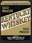 1940s KENTUCKY Greenbrier Double Springs Bardstown Old Bracer Whiskey Label