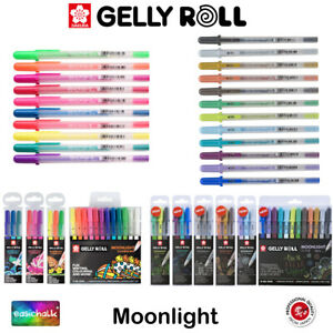 Gelly Roll Moonlight Gel Pens Sakura Single Pens & Sets Fluorescent + Whites