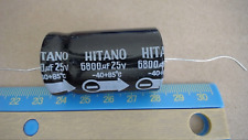 Hitano 6800Uf 25V -40+85C Electrolytic Axial Capacitor New Lot Quantity-10