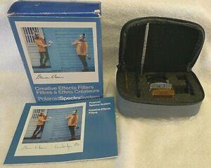 Polaroid SPECTRA CREATIVE EFFECTS Filter Set F107-F111 +Box, Manual & Case  HTF