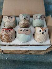New listing Us 6× Mini Ceramic Plant Pot Owl Succulent Flower Planter Bonsai Box Home Garden