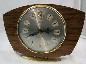 A working Bentima battery mantel clock, German works.