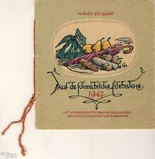 Ziegler Auf de schwäbische Eisebahne 1947 handkolorierte Holzschnitte Eversmann