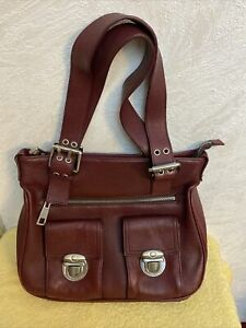 Marc Jacobs large soft leather shoulder bag/Tote. Maroon In Color. Lovely Purse.