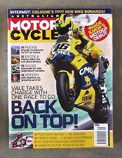 Motorcycle News AMCN Oct 2006 - VTX 1800 XV1900 ZX6RR RC211V MONSTER TNT BRUTALE