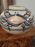Lynda Katz Glazed Pottery Jug Jar Vase With Crab Sea Creature SUPER CUTE!!