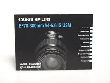 Canon EF Lens EF 70-300mm f/4-5.6 IS USM Anleitung