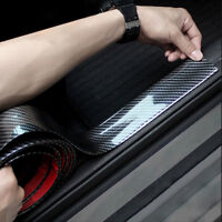 Car Sticker Carbon Fiber Rubber Door Sill Protector Edge Soft Guard Strip Black