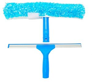 IGADPole 14 inch(35cm) Professional Window Cleaning Combo - Squeegee & Microfibe