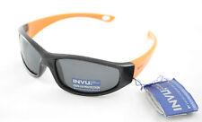 Occhiali da sole Sunglasses INVU K 2414 C BOY NERO ORANGE 100% POLARIZZATO UV400