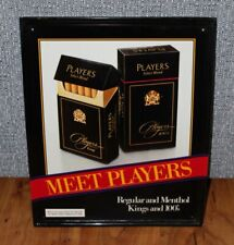 Used Players Select Blend Tobacciana Embossed Advertising Sign