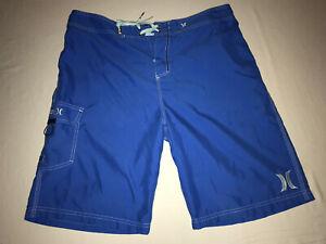 Hurley Trunks Blue Swim Pool Board Beach Skate Shorts Men Size 36