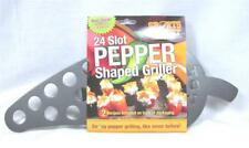 Lot of 12 Jalapeno Pepper Shape Griller Non-Stick Popper Roaster BBQ Recipes A14