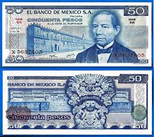 Mexico 50 Pesos 1976 Serie Ek Prefix X Peso Free Shipping Worldwide