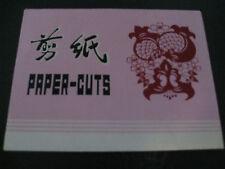 PAPER-CUTS  Scherenschnitte,China,sehr alt,8 sehr schöne versch.farbige Schnitte