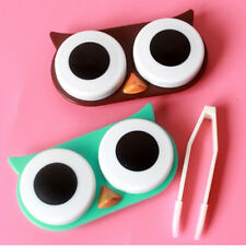 OWL Contact Lens Case Cute Travel Storage Soak Kit Hard Holder Container Box CN