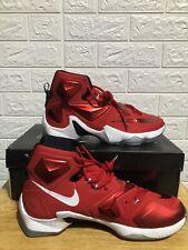 Nike Lebron XIII Elite University Red White Black 807219-610 Men's Size 11.5