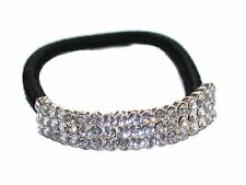 Clear Crystal Curved Ponytail Holder Hair Elastic Bobble