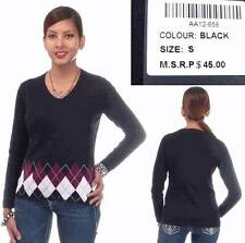 Step In Style Black & Argyle Sweater (Large)