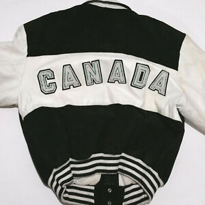 Pelle Cuir Leather Jacket CANADA Vintage. Size M