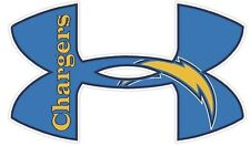 """Under Armour San Diego Chargers Football Truck/Window Decal Sticker-11.5"""" x 7""""."""