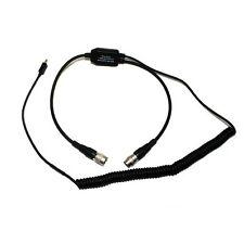 PilotUSA PA-80D/VIRB Garmin Virb Recorder Adapter for David Clark Headset