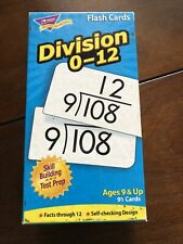 Trend Division 0-12 Flash Cards Ages 9 & Up Skill Building & Test Prep Math-2.5