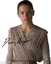 "Daisy Ridley Rey Star Wars The Force Awakens Reprint Signed 8x10"" Photo #2 RP"
