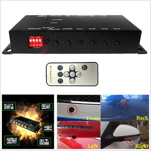 4-Way Car Video Switch Parking Camera 4 View Image Split-Screen Control Box