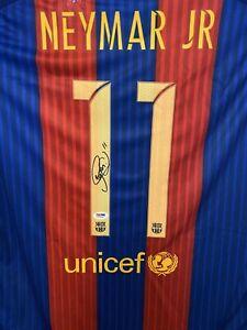 Neymar Jr Signed Unicef FCB Jersey PSA/DNA