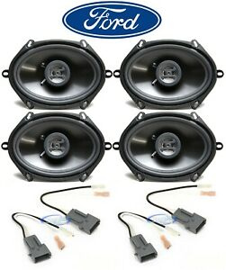 """Hifonics 6x8"""" Front+Rear Car Speaker Replacement Kit For 1999-2003 Ford F-150"""
