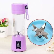 Portable USB chargeable lightweight Blender gym work purple
