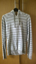 Mckenzie Hoodie Grey And Turquoise Striped Medium