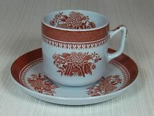Copeland Fine Stoneware Spodes Fitzhugh Demi Cup and Saucer Red Bouquet Design