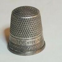 Sterling Silver Antique SBC Sterns Bros Anchor Hallmark Size 10 Sewing Thimble