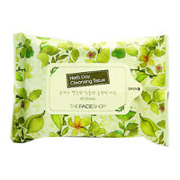 The Face Shop Herb Day Cleansing Tissue 20 Sheets (Travel Size)