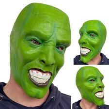 'The mask' Green Latex Mask Jim Carrey Movie Fancy Dress Loki Halloween Accessor